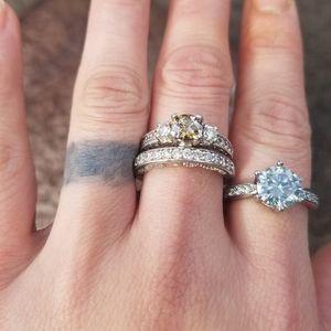 Jewelry - Vintage Moissanite Engagement Set (2 Rings)